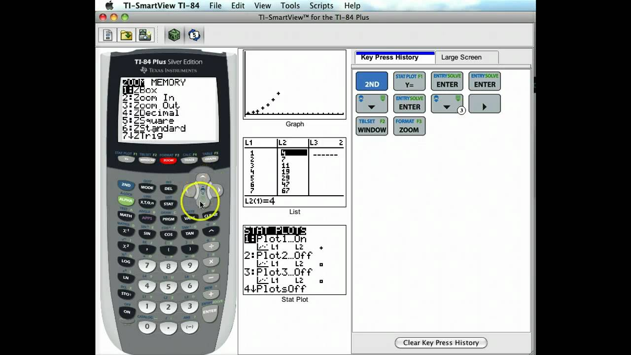 Exponential Growth With The Graphing Calculator Youtube