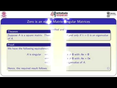 Review of eigenvalues and eigenvectors of a square matrix (MATH)