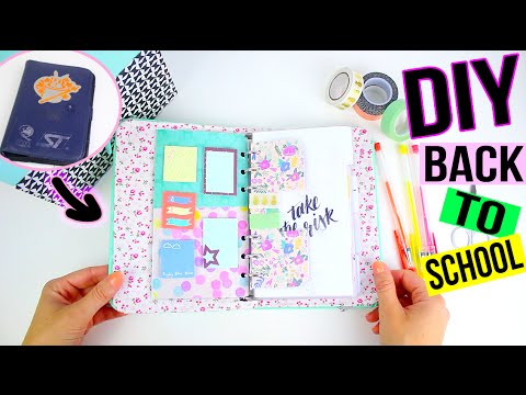 Diy Back To School ┋Personnalise Ton Agenda / Planner (Recyclage