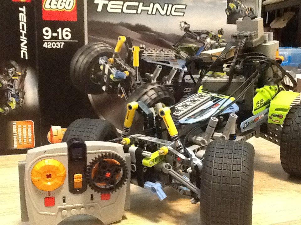 LEGO Technic 42037 motorized. - YouTube