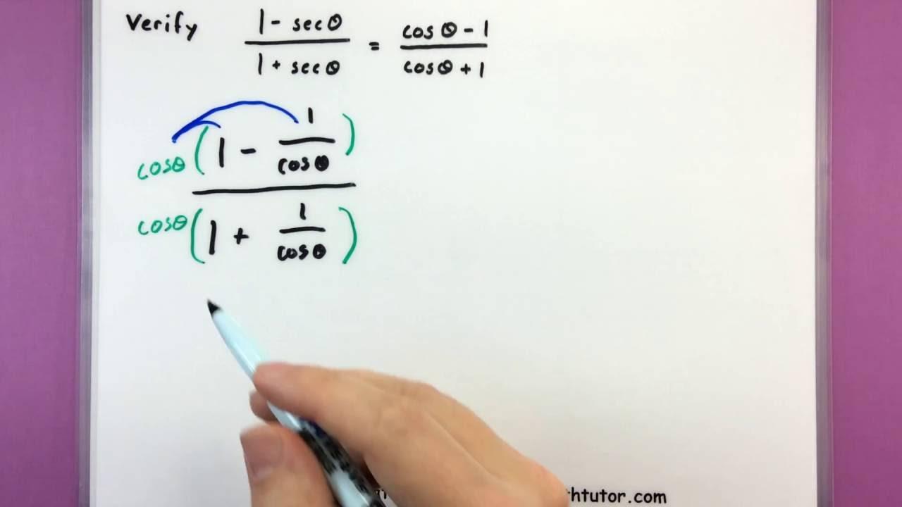 Trigonometry Proving Trig Idenies