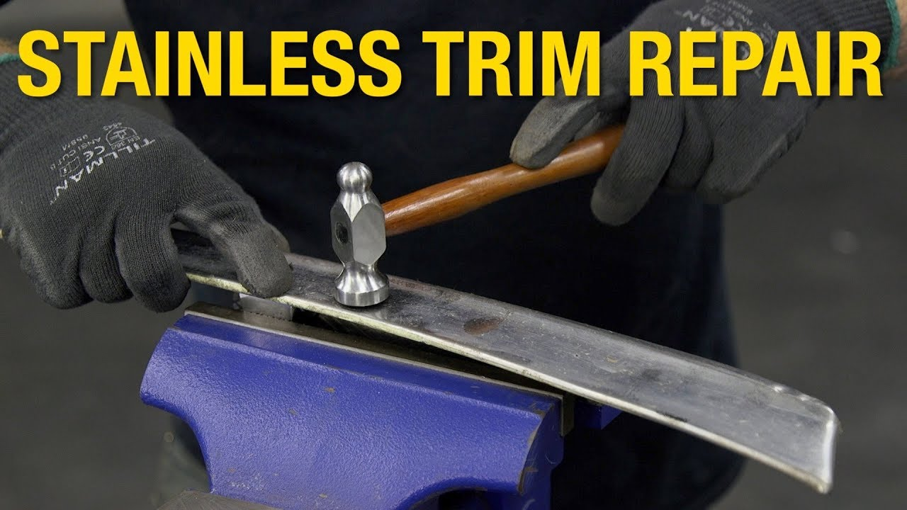 How To Fix Dents On Steel Trim Stainless Restoration Repair At Eastwood