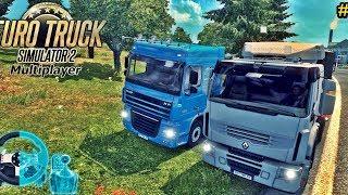 BATE DE FRENTE??? - Caminhoneiros DA Madrugada #5 - Euro Truck Simulator 2 Online - Volante G27
