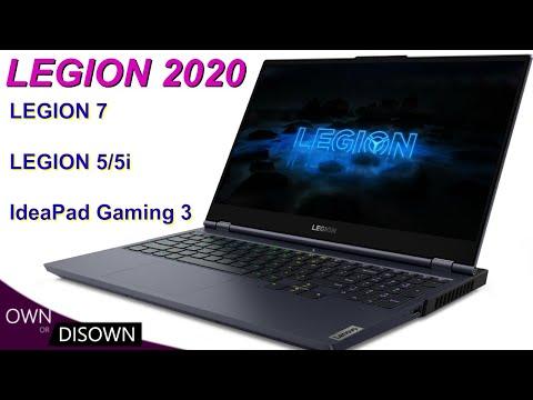 NEW 2020 LEGION LAPTOPS- LEGION 7, LEGION 5/5i, IdeaPad Gaming 3