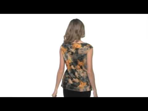 Anne Klein - Marigold Floral Print Blouse SKU:#8089857