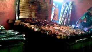 Cooking at Scotchies, Ocho Rios Jamaica