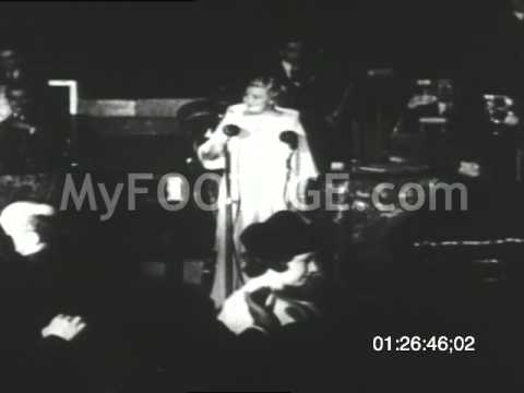 """Stock Footage - 1934: Sophie Tucker Performs """"Some Of These Days"""""""