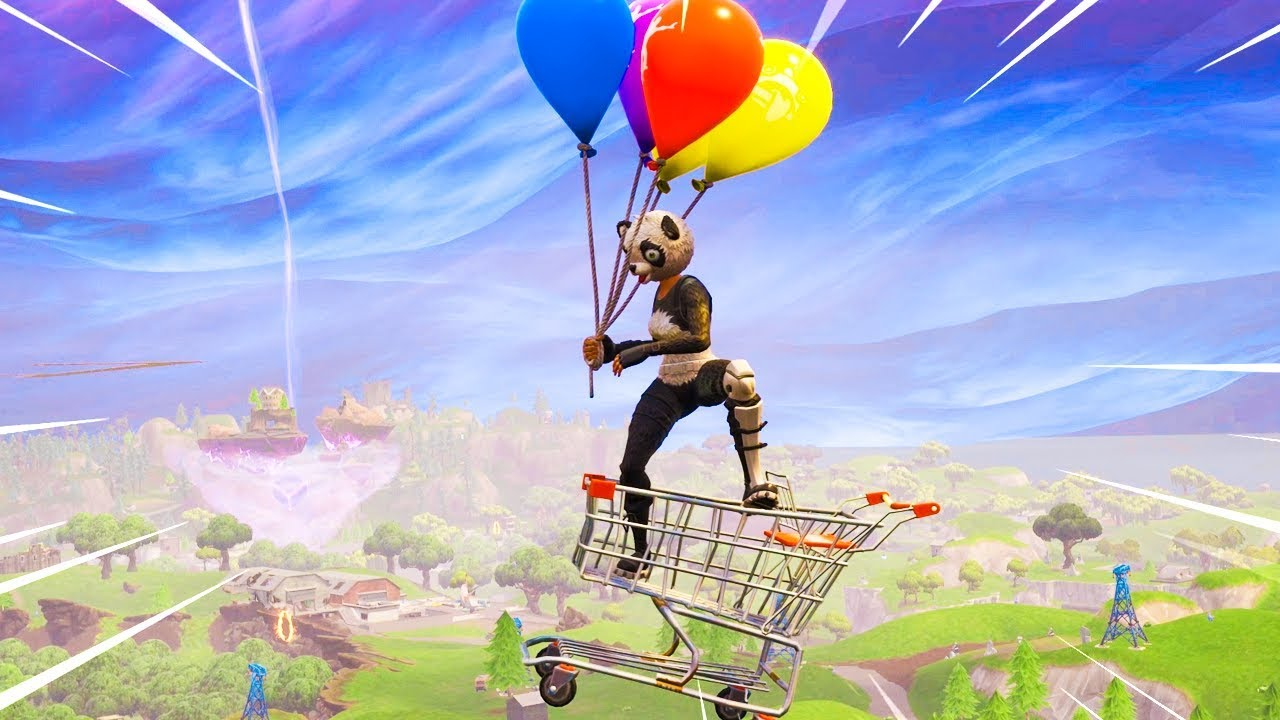 the new balloon gameplay in fortnite - fortnite hot air balloon
