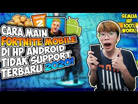 Cara Terbaru Untuk Main Fortnite Mobile Di HP Android Yang Tidak Support 2020! (UPDATE) - 동영상