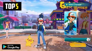 Top 5 New POKEMON Games For Android 2021|5 Best High Graphics Pokemon Games For Android