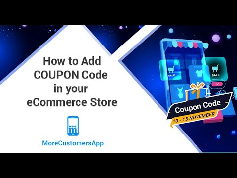 How To Add And Manage ECommerce Store Coupon Code With MoreCustomersApp