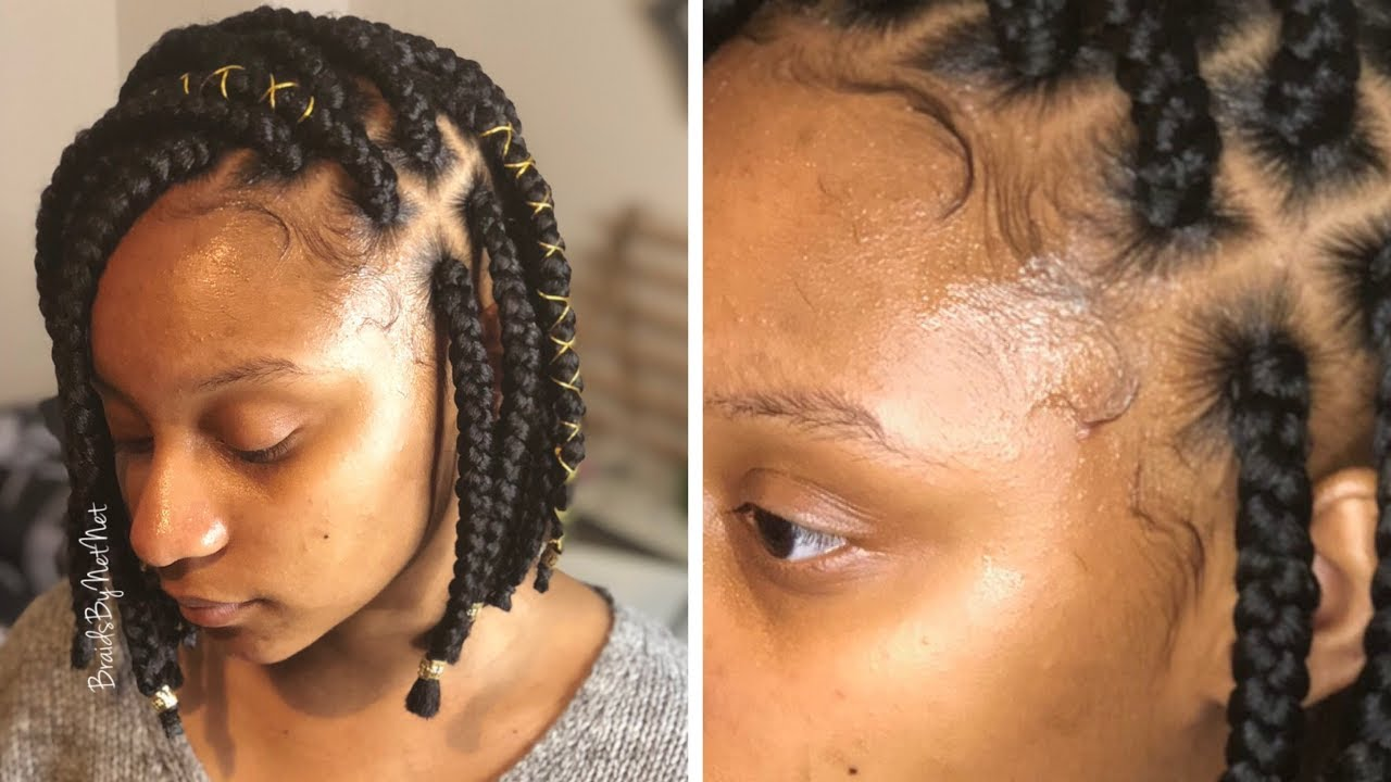 Egyptian Bob Box Braids W/ Baby Hairs