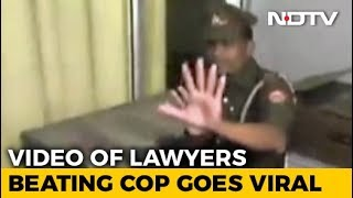On Camera, UP Lawyers Assault Policeman In Front Of Top Cop