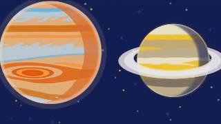 Космос для дітей. Система планет для дітей. Розвиваючий мультик для малюків