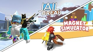 Roblox Live!🔴 | JAILBREAK & Magnet Simulator! (FREE PETS)| Come join me! 😄
