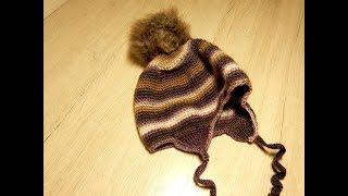 Вязаная крючком детская шапка просто и легко вязание крючком