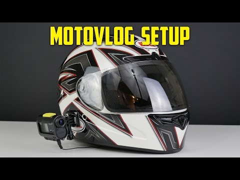 Motovlog Setup Tutorial!! (Sony Action cam with Microphone)