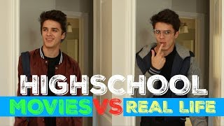 HIGH SCHOOL IN MOVIES VS REAL LIFE | Brent Rivera