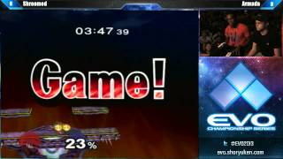 EVO 2013 SSBM Top 8 Shroomed Dr Mario vs Armada Peach