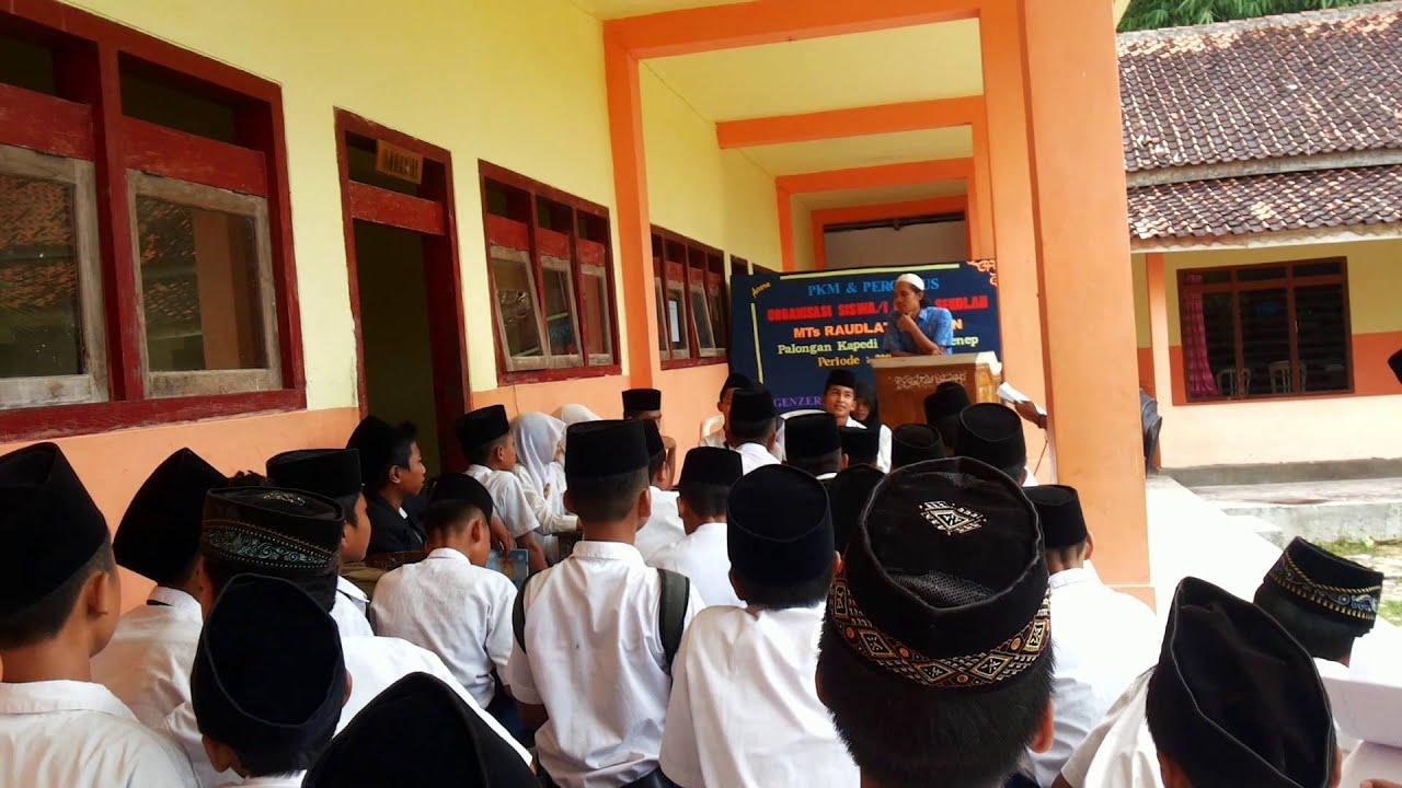 Debat Kandidat Pemilihan Calon Ketua Osis Mts 2016 Youtube