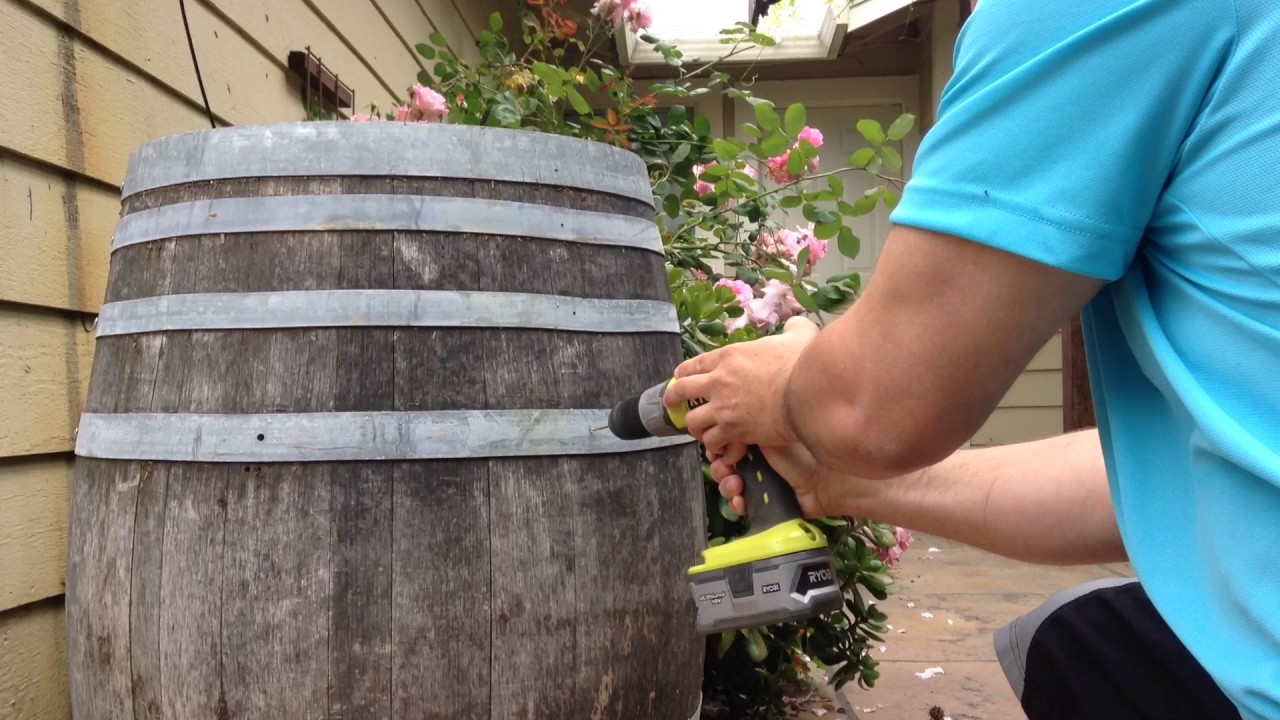 How To Make Wine Barrel Planters Youtube