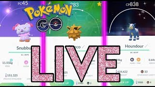 HUNTING SHINY SNUBBULL, PINECO AND MORE! Pokémon Go Live stream!