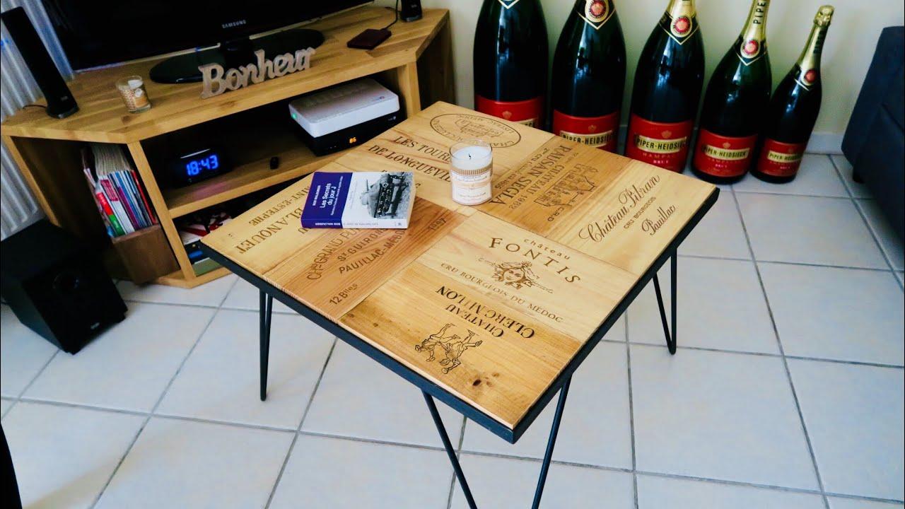 Table Basse Avec Caisse A Vin fabriquer une table basse avec des étampes (diy making a coffee table with  à wine)