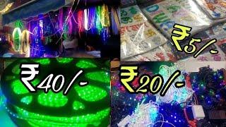 Cheapest Diwali Items/Lights Market | Chandni Chowk | DELHI | Tushar 51NGH