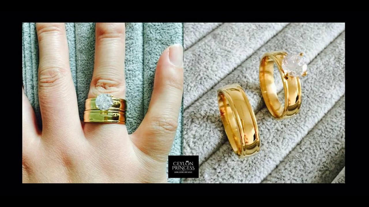 New Wedding Ring Design couple rings Sri Lanka YouTube