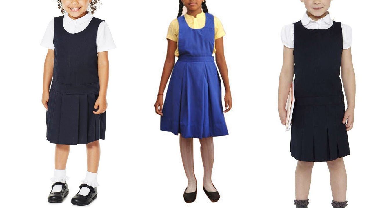 e235573be8 School Uniform Cutting and Stitching Pinafore Cutting Girls School Pinafore  Dress