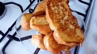 Сладкие гренки к завтраку