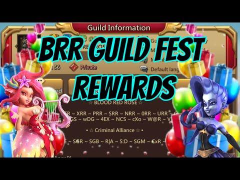 BRR Guild Fest Rewards! - Lords Mobile