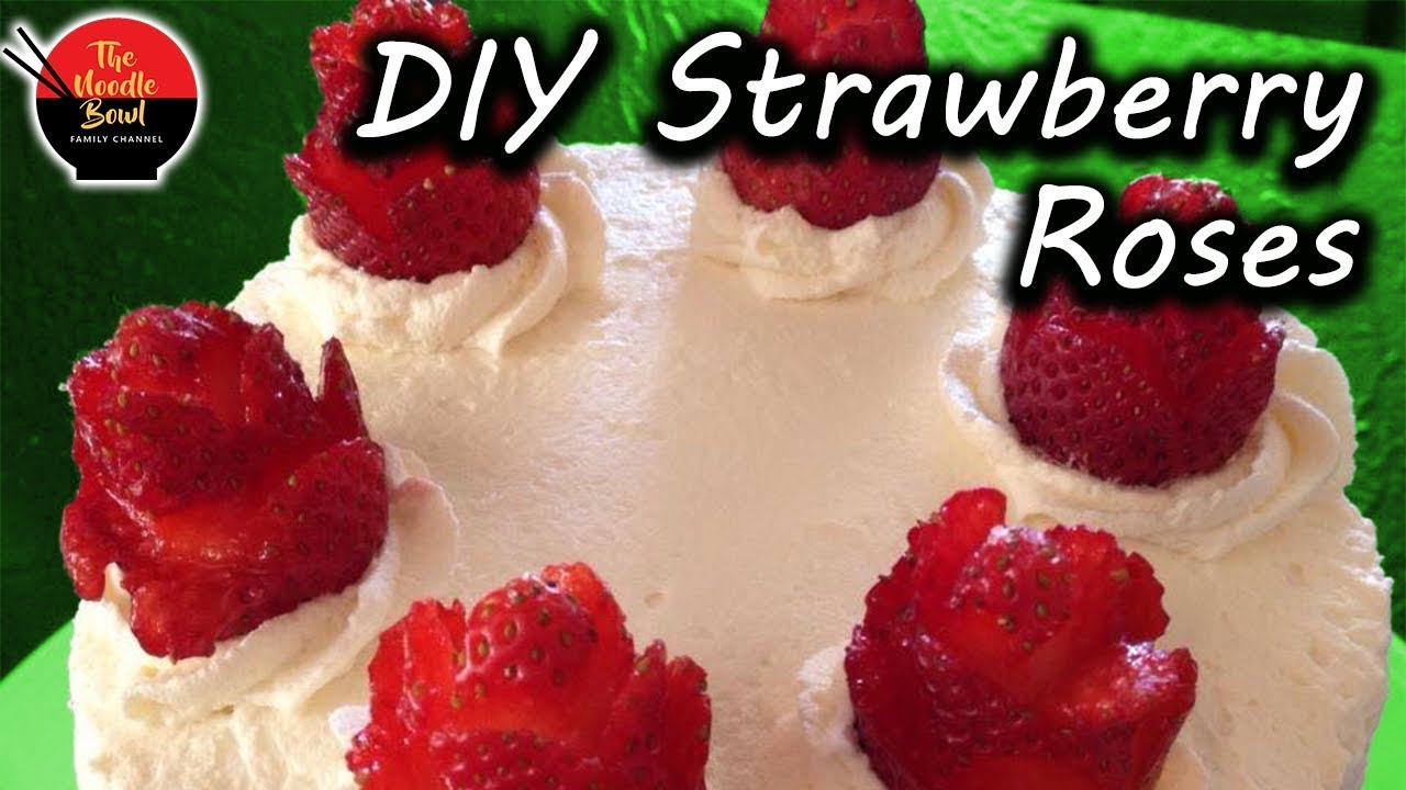 Strawberry Tuxedo Cake (video) - Tatyanas Everyday Food |Strawberry Cake Decoration