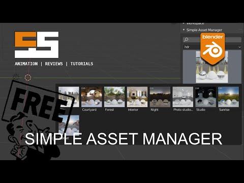 Blender addon: Simple Asset Manager now public