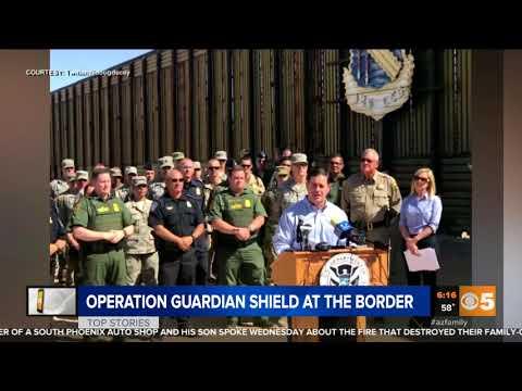 CBS 5: Governor Ducey and Secretary Nielsen Visit National Guard Members At Arizona Border
