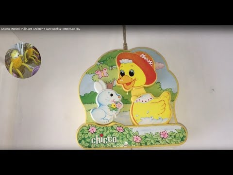 Chicco Musical Pull Cord Children's Cute Duck & Rabbit Cot Toy