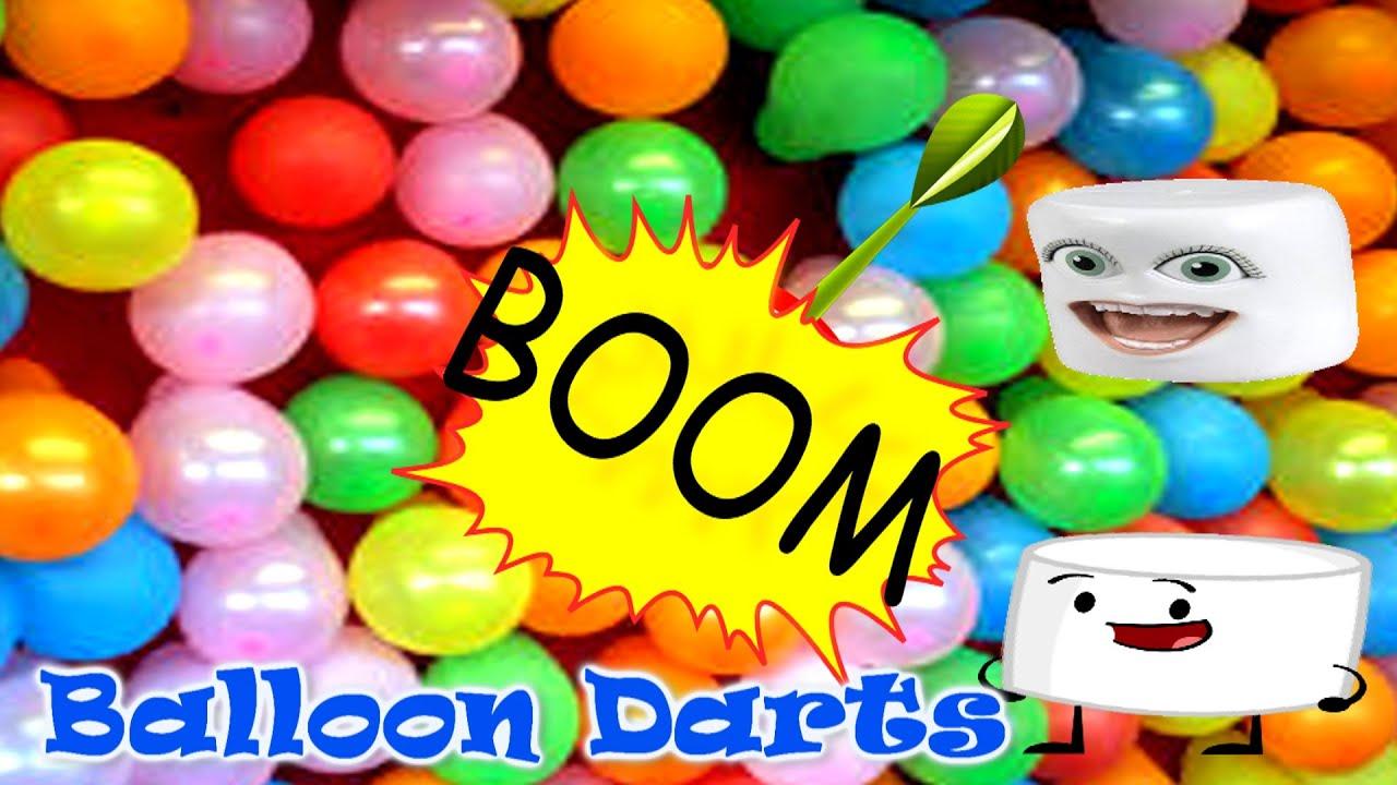 Balloons Darts Kids Fun Outdoor Activities Marshmallow Figures