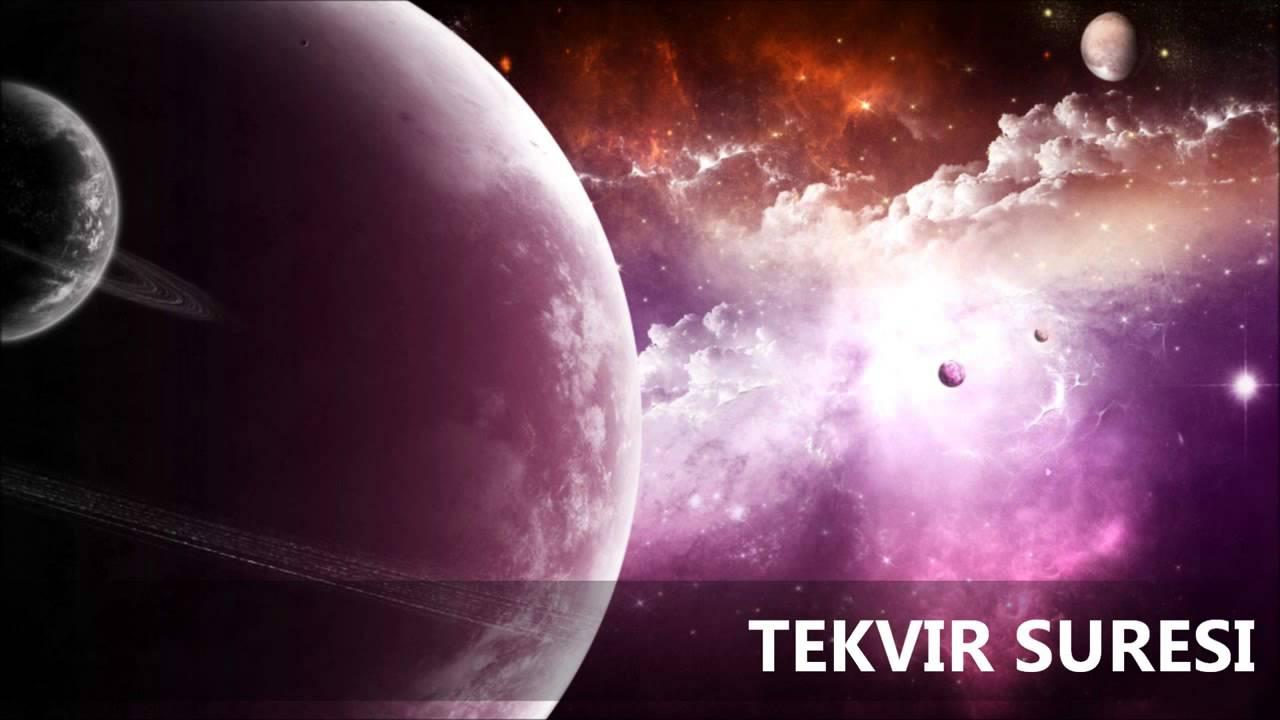 Tekvir Suresi Türkçe Meali