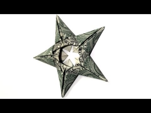 5 Dollar Star Origmai Tutorial - How to make this Dollar Origami Star