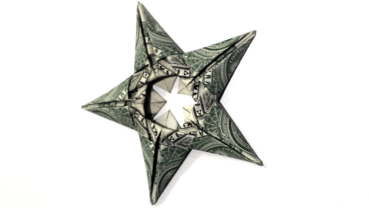 5 Dollar Star Origmai Tutorial - How to make this Dollar ... - photo#3