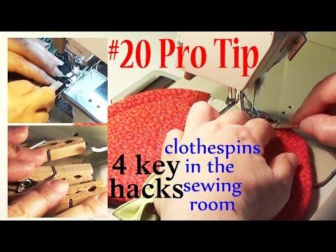Pro Sewing Tips: #20    Clothespin Hacks: 4 Key Uses   ZSA Tutorials