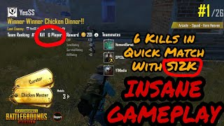 6 Kills in Quick Match with S12K   Insane Gameplay PUBG Mobile Arcade Mode Quick Match