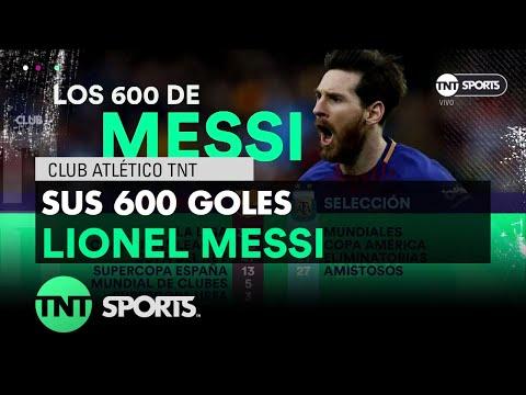 Messi llegó a 600 goles en su carrera
