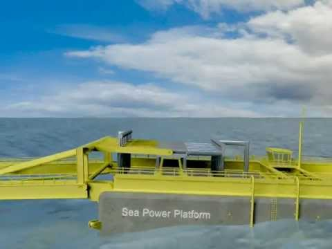 Animation of Sea Power Wave Energy Device