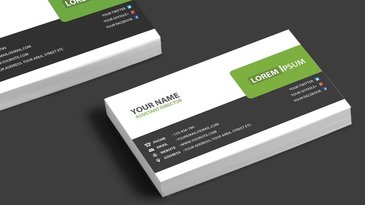 corporate business card design tutorial in adobe photoshop 5 youtube