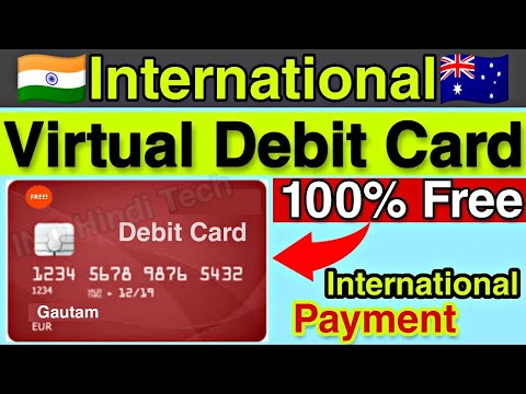 Free International Prepaid Debit Card For All User || International Payment Virtual Card In India 🔥