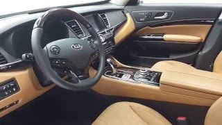 2016 Kia K900 Luxury V8 Interior Walkaround 2016 Chicago Auto Show