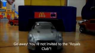Mitsubishi Evolution 10 vs Nissan R35 GTR (Toy Car Race with Matchbox and Hotwheels)