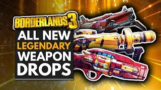 BORDERLANDS 3 | All New Legendary Weapon Drops - Moxxi's Heist of the Handsome Jackpot DLC