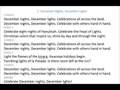 1. December Lights December Nights*